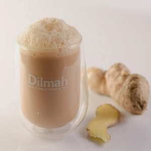 "the frothy full-bodied ""t-Kitsch"" served at a Dilmah Tea Lounge"